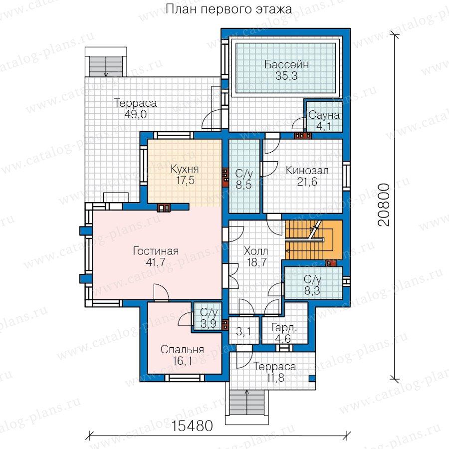 План 2-этажа проекта 48-24CG