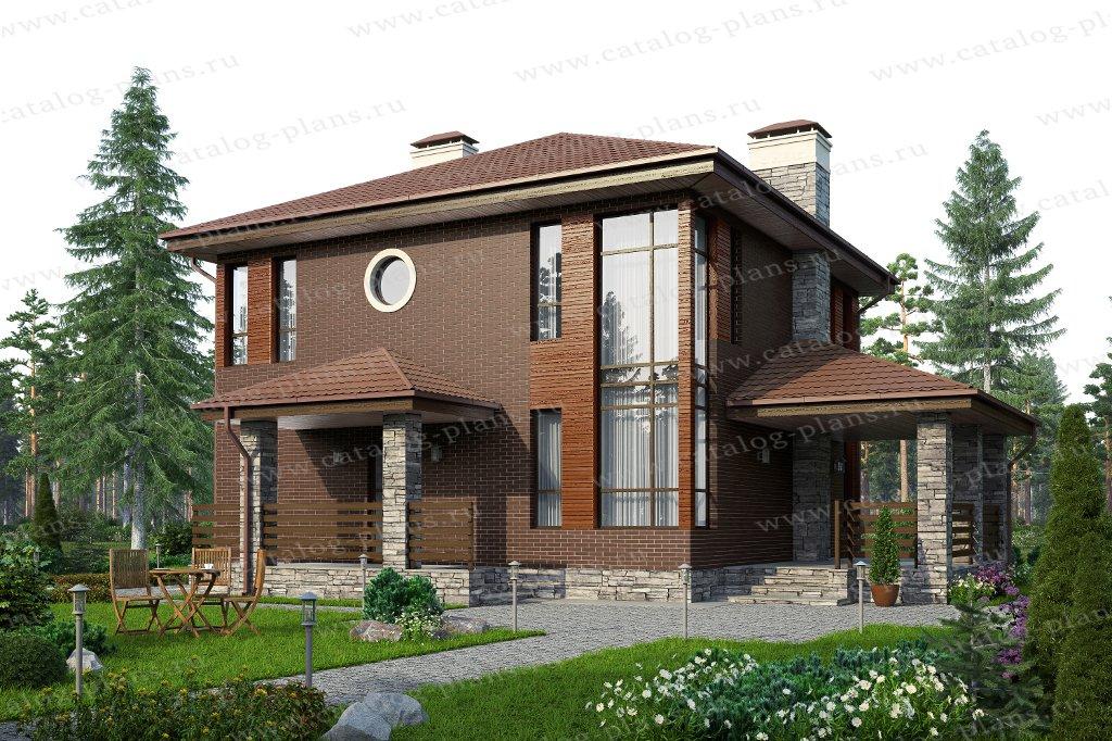 Проект жилой дом #59-79AL материал - газобетон, стиль современный