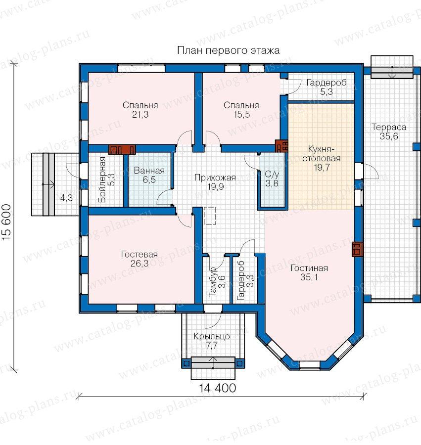 План 1-этажа проекта 57-24K