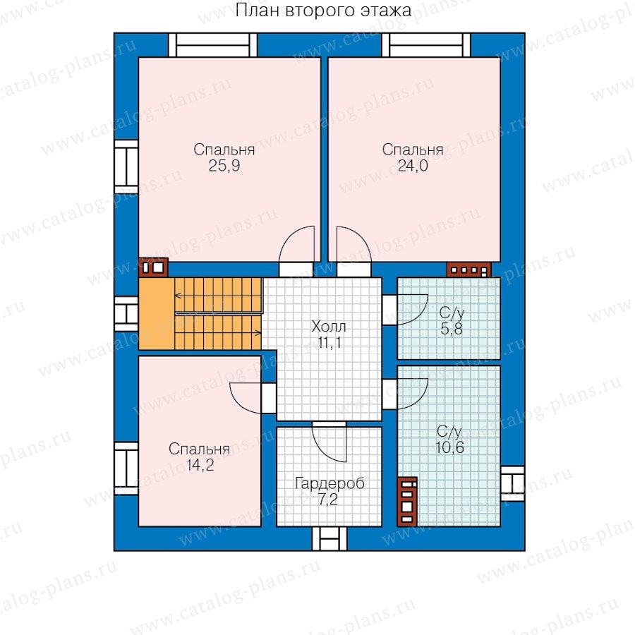 План 2-этажа проекта 57-62С