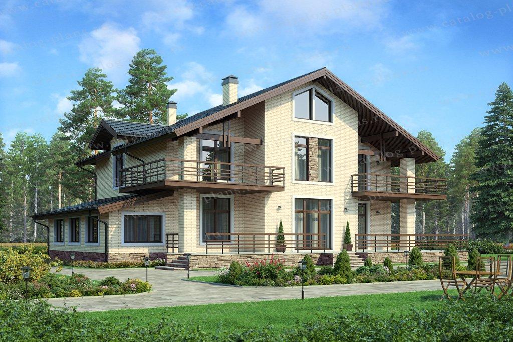 Проект жилой дом #40-77 материал - кирпич, стиль европейский