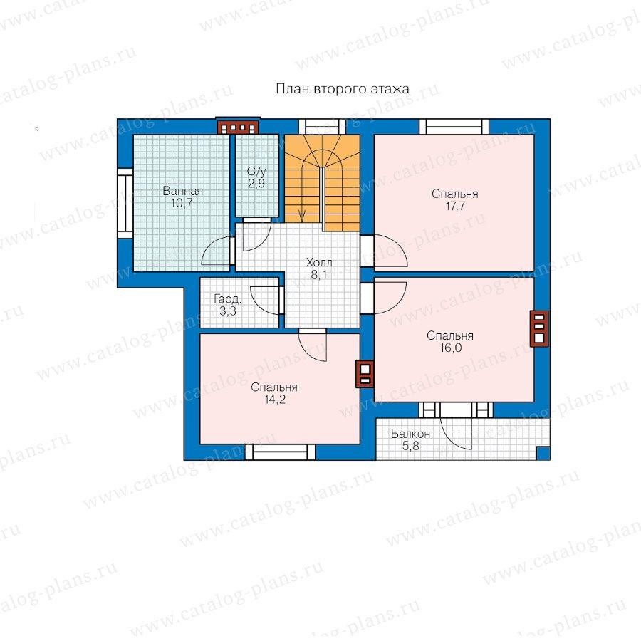 План 2-этажа проекта 57-63А