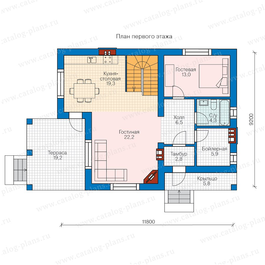 План 1-этажа проекта 57-63А