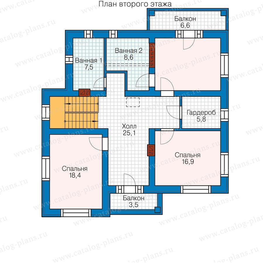 План 3-этажа проекта 59-95D