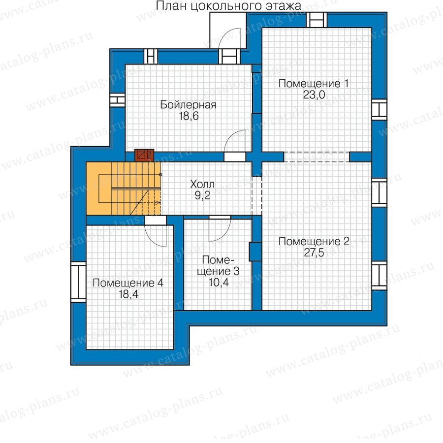 План 1-этажа проекта 59-95D