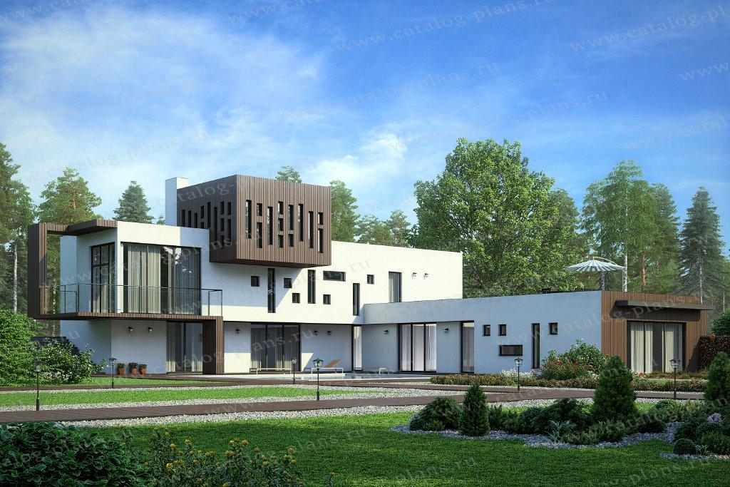Проект жилой дом #60-91 материал - опоры монолитные ж/б с заполнением газобетоном, стиль хай-тек