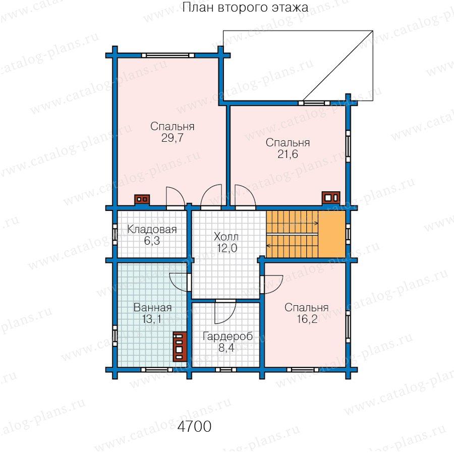 План 2-этажа проекта 80-18