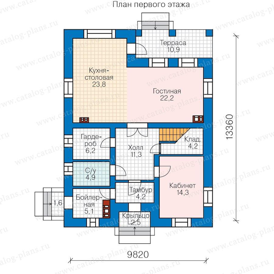 План 1-этажа проекта 80-18