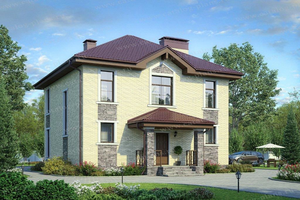 Проект жилой дом #57-12L материал - газобетон, стиль европейский