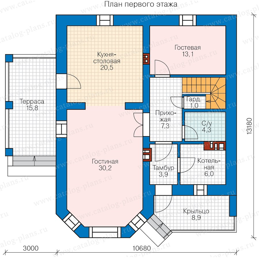 План 1-этажа проекта 57-01B