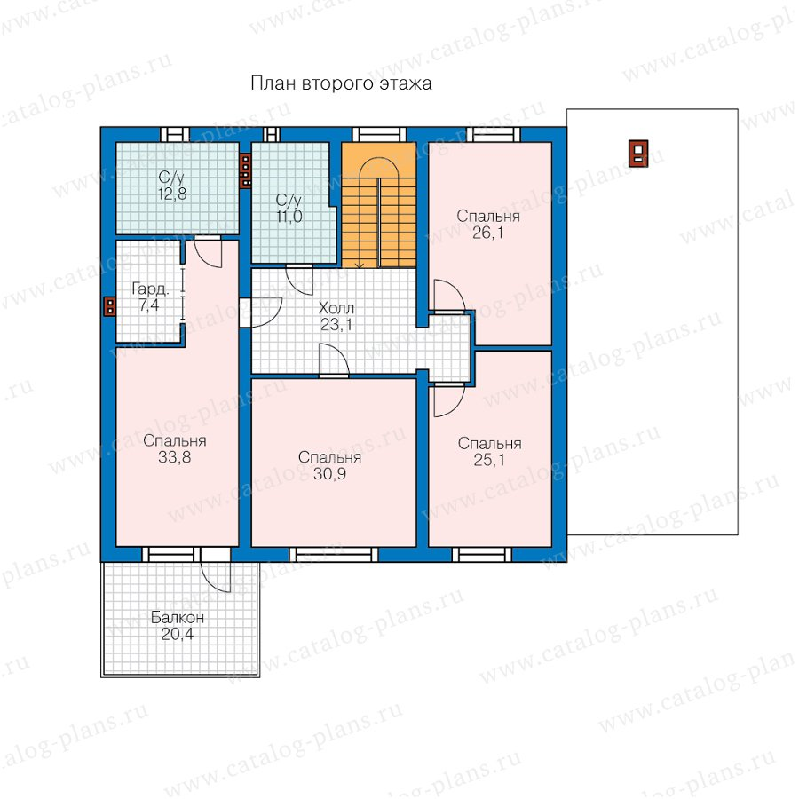 План 2-этажа проекта 58-02A