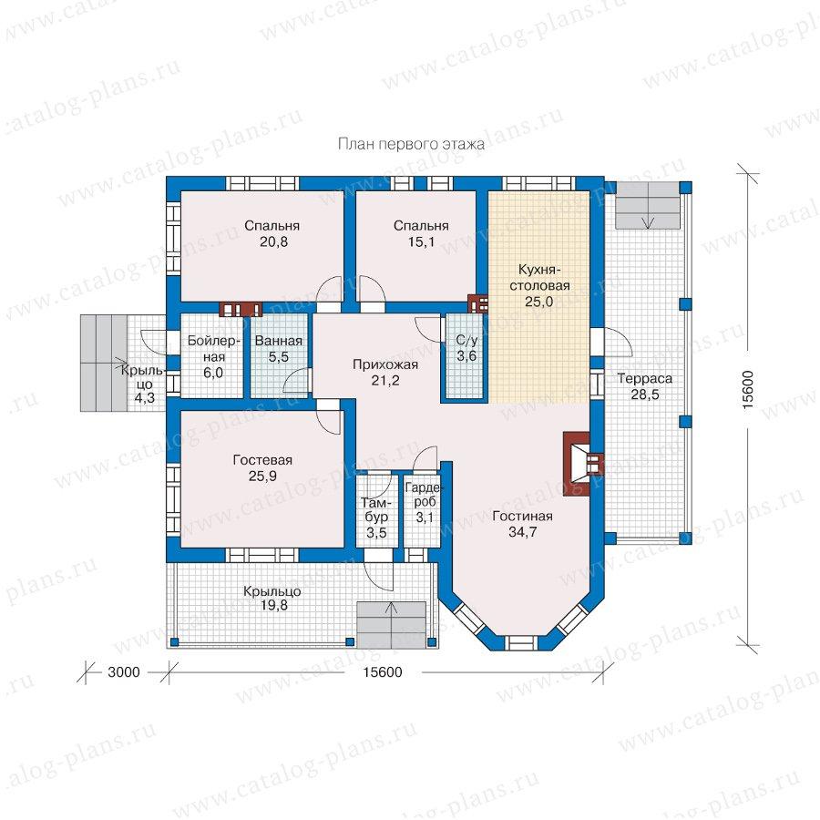 План 1-этажа проекта 57-24А