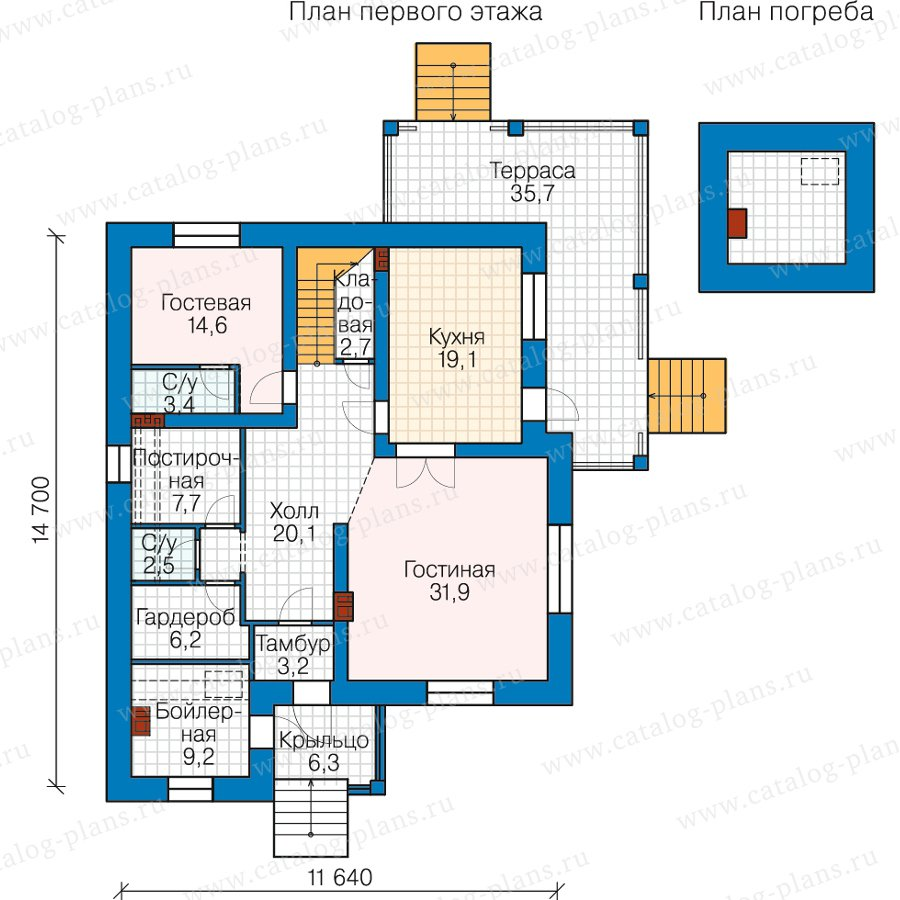 План 1-этажа проекта 40-25