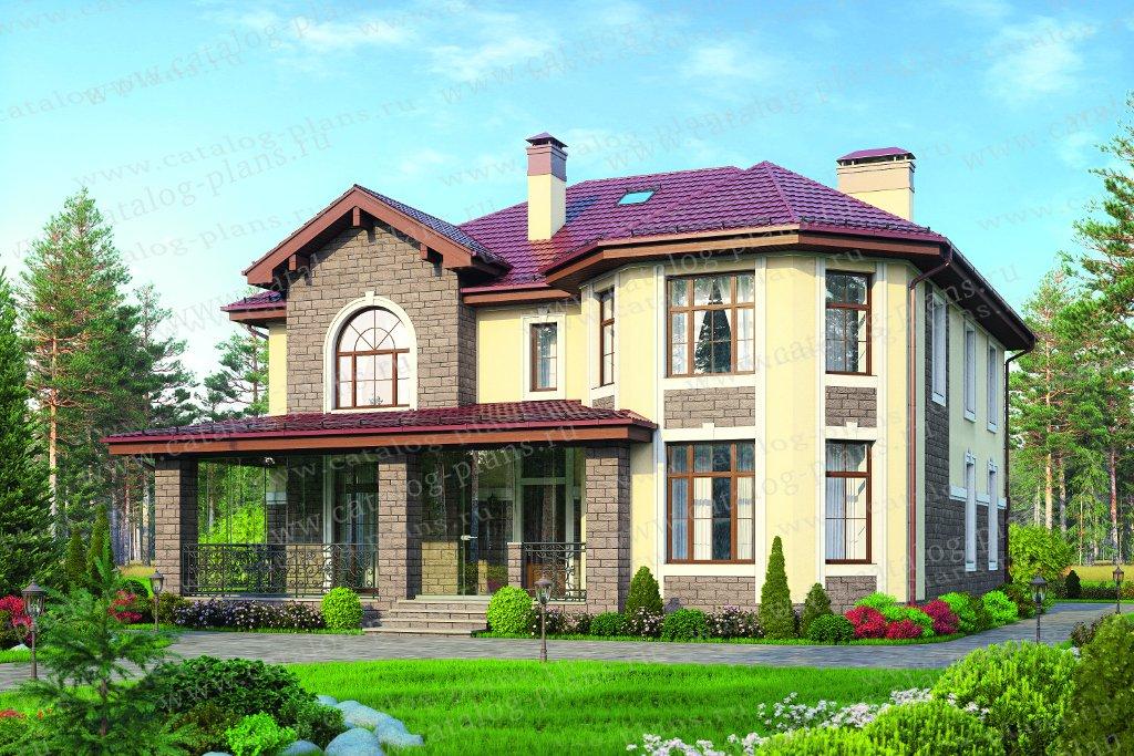 Проект жилой дом #40-11B материал - газобетон, стиль европейский