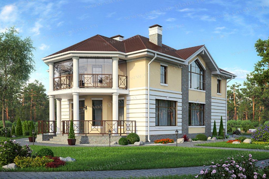 Проект жилой дом #57-15 материал - газобетон, стиль европейский