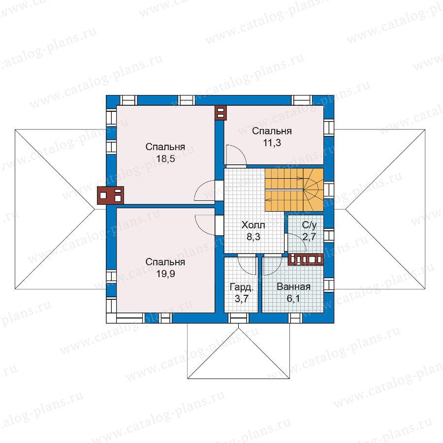 План 2-этажа проекта 59-79В