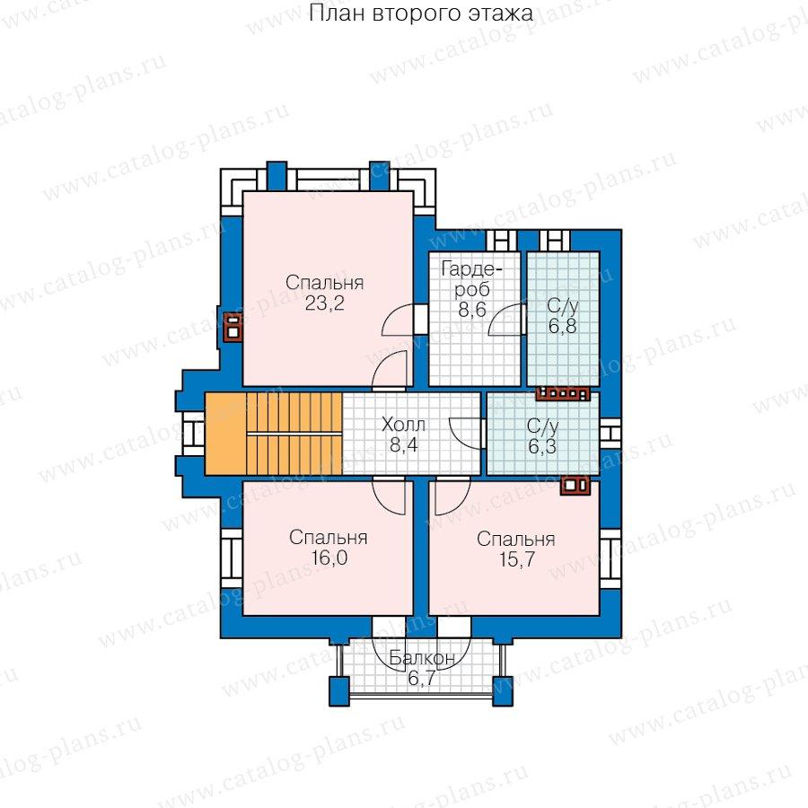 План 2-этажа проекта 58-93L