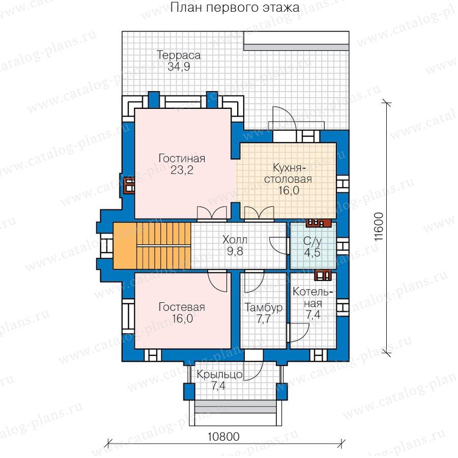 План 1-этажа проекта 58-93L