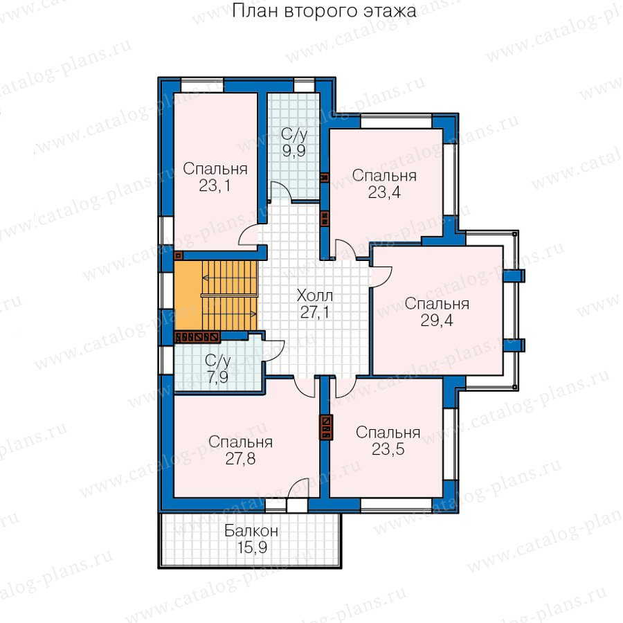 План 3-этажа проекта 40-30А