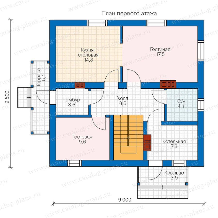 План 1-этажа проекта 40-04KL1