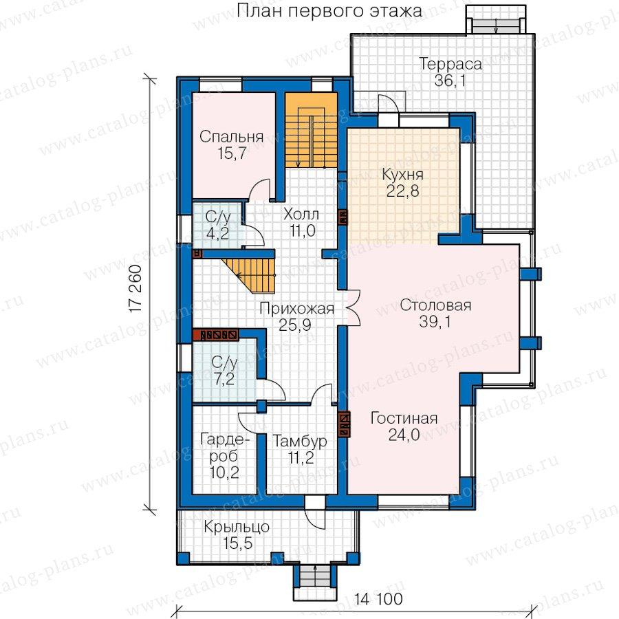 План 2-этажа проекта 40-30А
