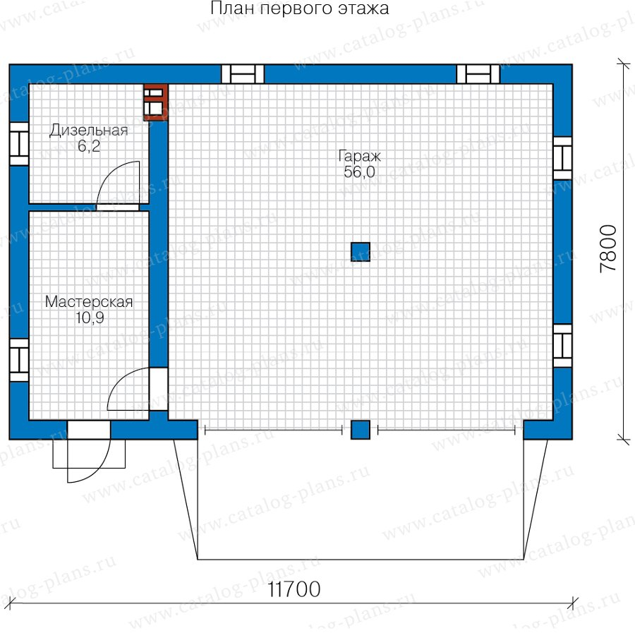 План 1-этажа проекта 90-43