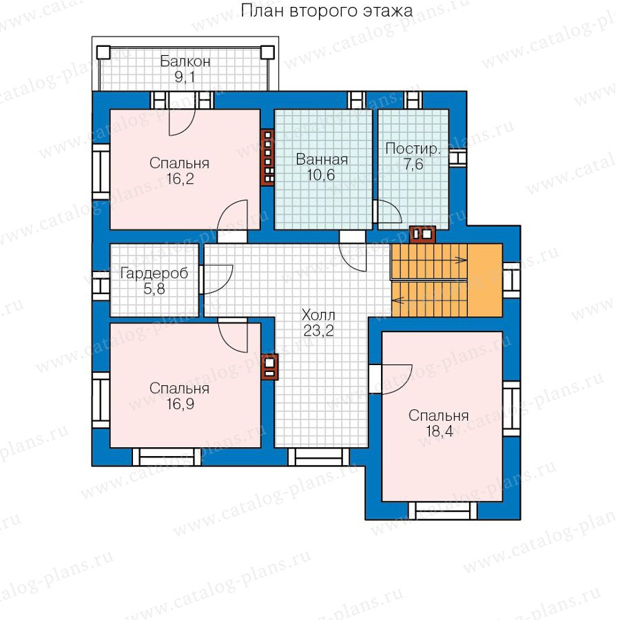 План 2-этажа проекта 59-95A
