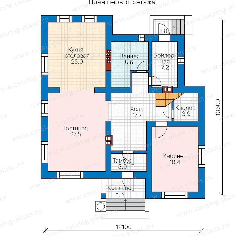 План 1-этажа проекта 59-95A