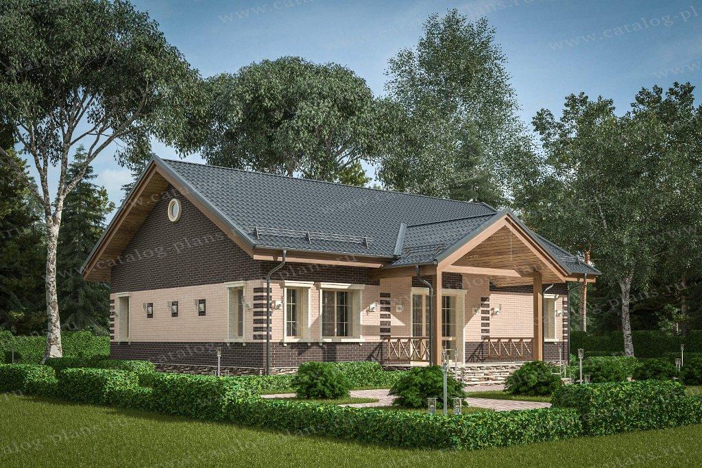 Проект жилой дом #40-80L материал - кирпич, стиль