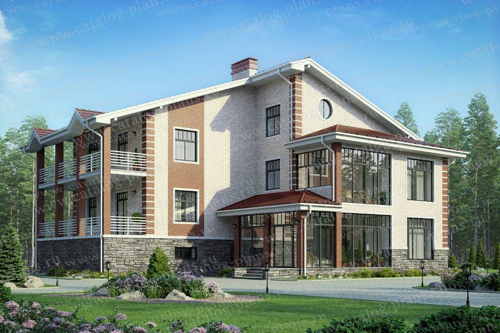 Проект жилой дом #58-91L материал - газобетон, стиль