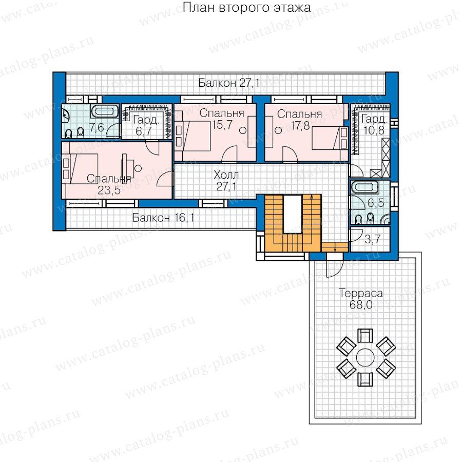 План 2-этажа проекта 40-84L