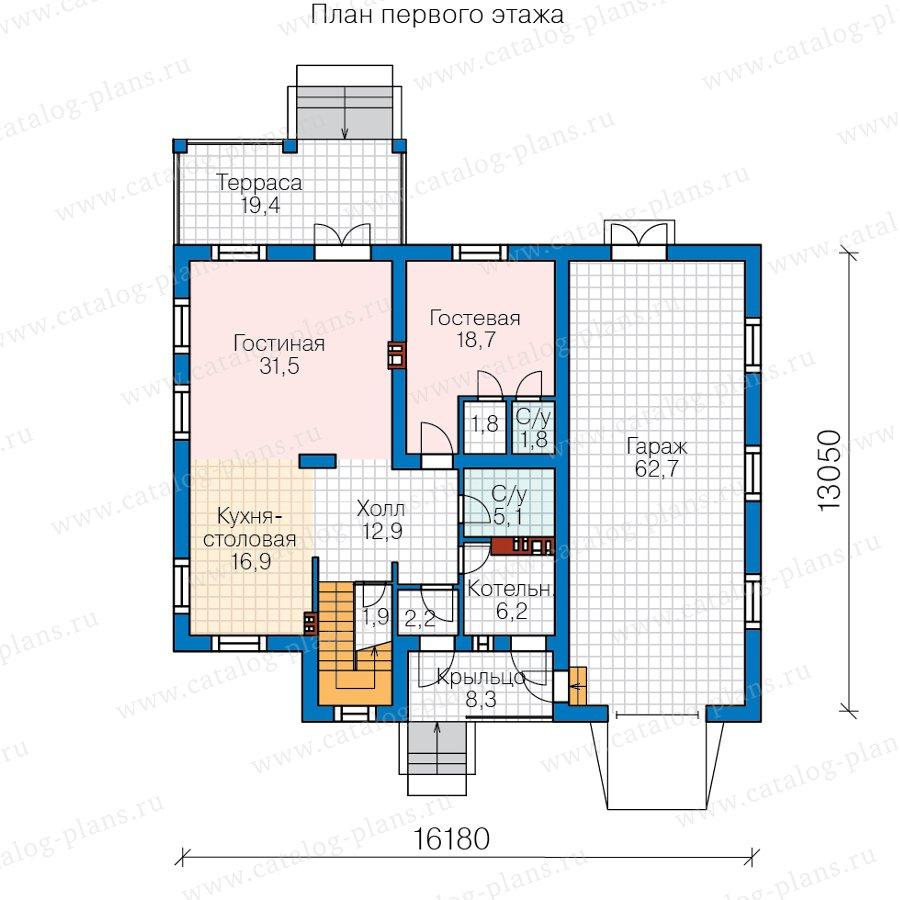 План 1-этажа проекта 57-20F