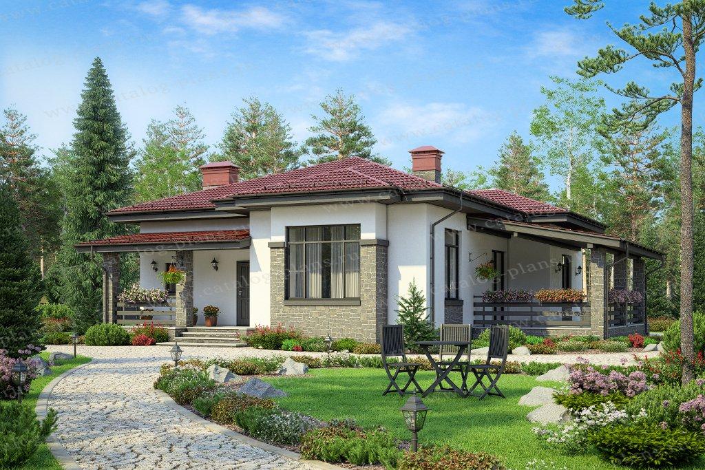 Проект жилой дом #62-05 материал - газобетон, стиль современный