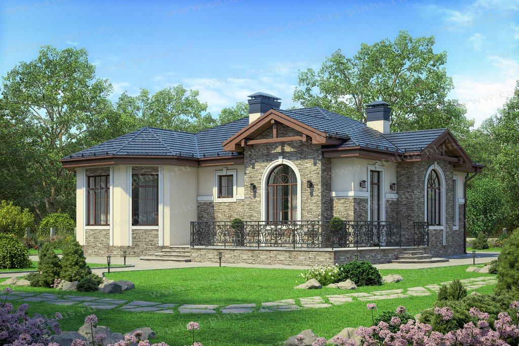 Проект жилой дом #58-97 материал - газобетон, стиль
