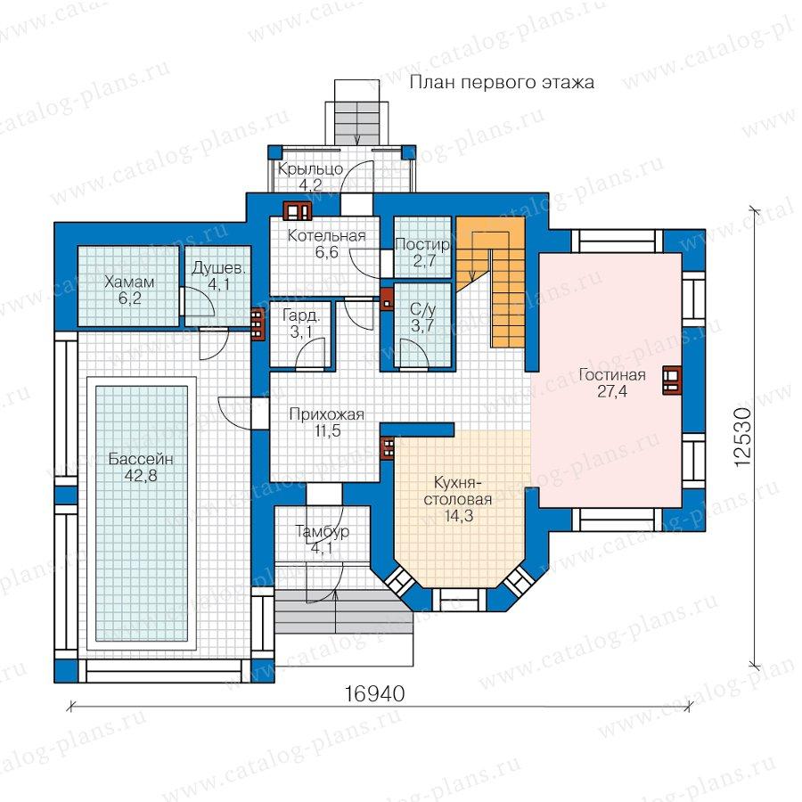 План 1-этажа проекта 57-25KDL