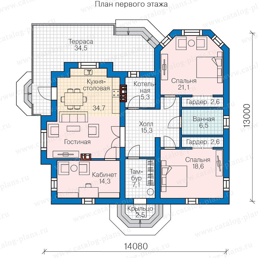 План 1-этажа проекта 58-97