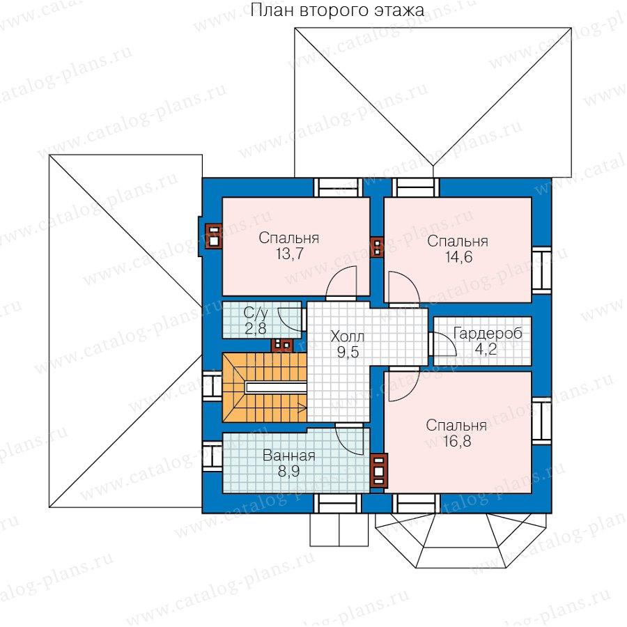 План 2-этажа проекта 57-52B