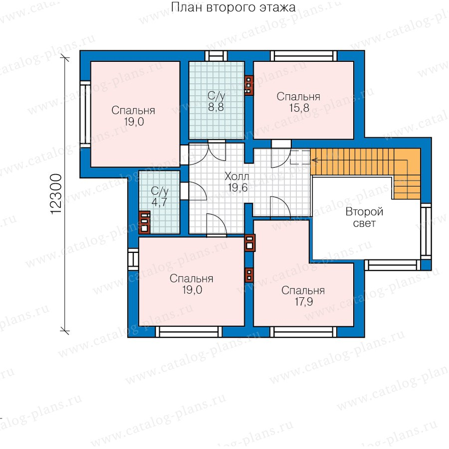 План 3-этажа проекта 58-36C