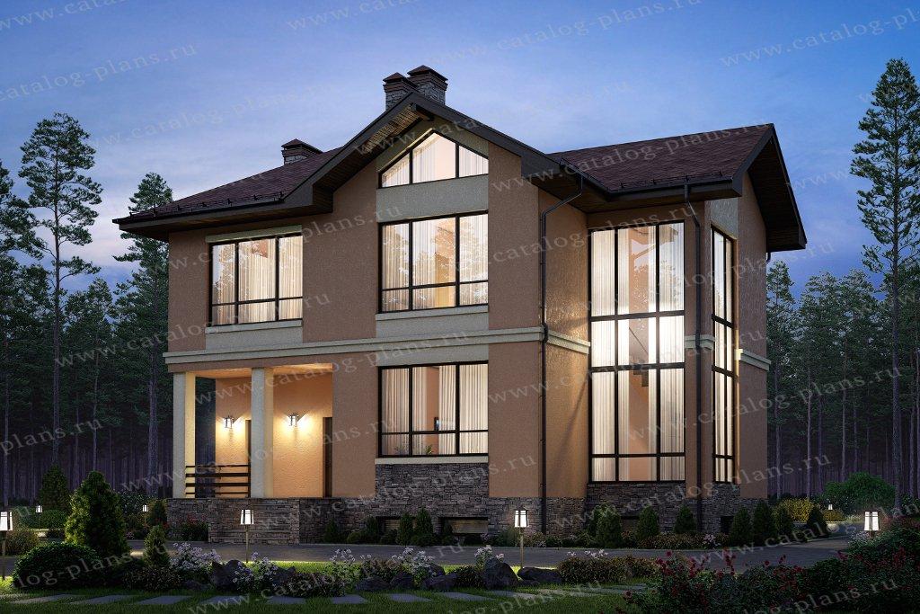 Проект жилой дом #58-36C материал - газобетон, стиль