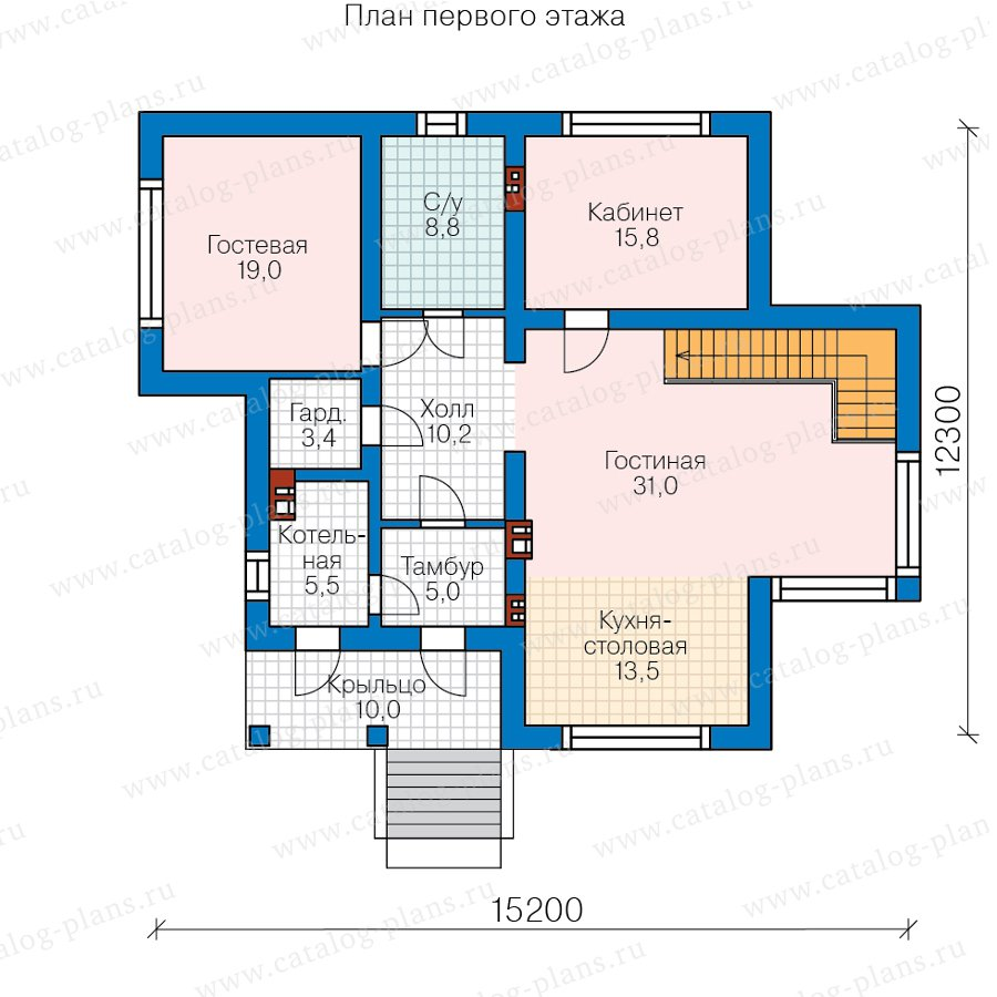 План 2-этажа проекта 58-36C