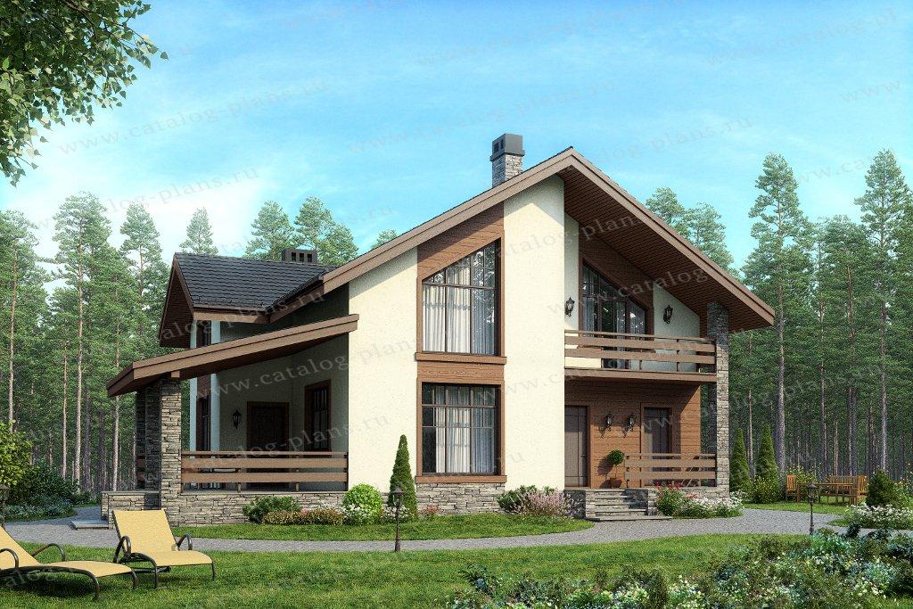 Проект жилой дом #57-63 материал - газобетон, стиль европейский
