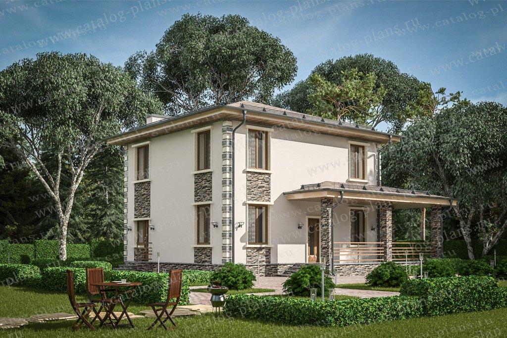 Проект жилой дом #58-96 материал - газобетон, стиль