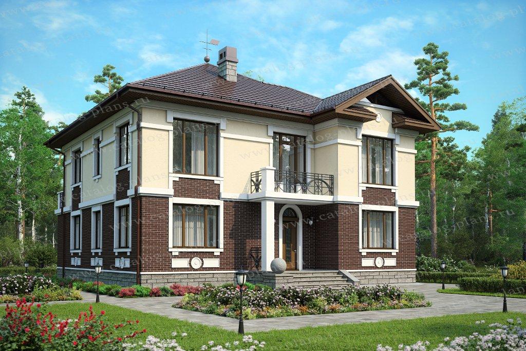 Проект жилой дом #59-95A материал - газобетон, стиль американский