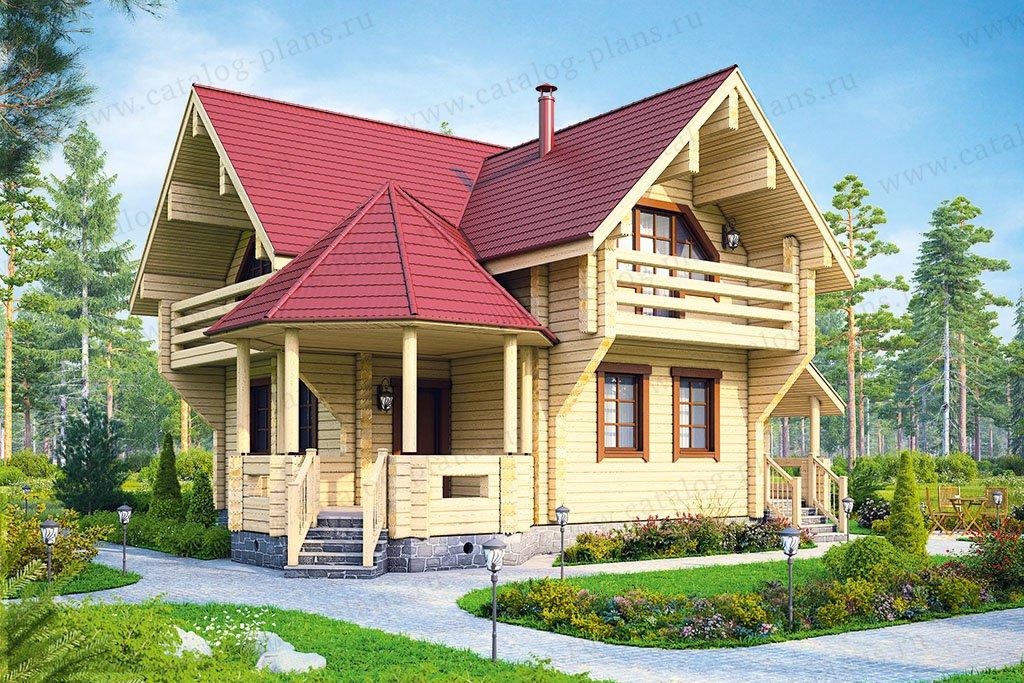 Проект жилой дом #13-25 материал - дерево, стиль