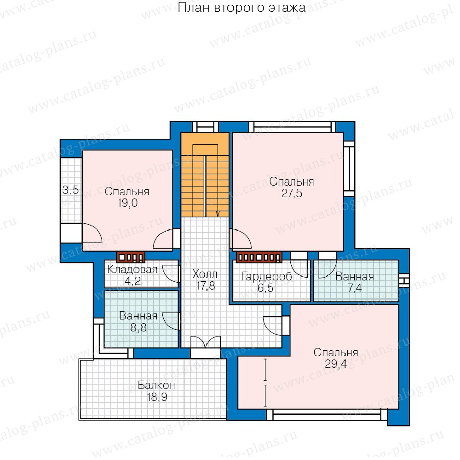 План 2-этажа проекта 40-93