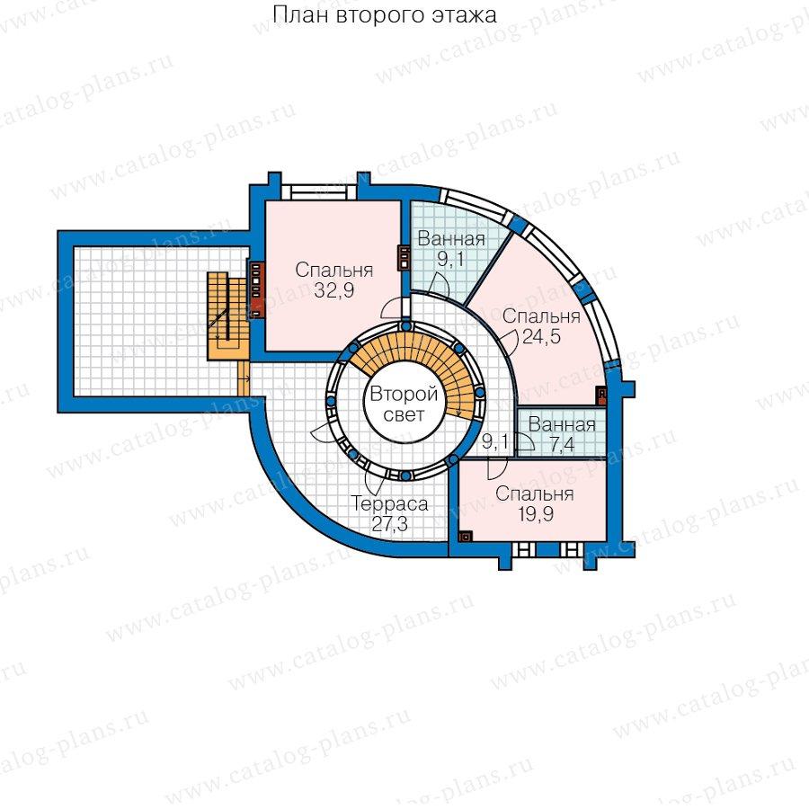 План 2-этажа проекта 40-89A