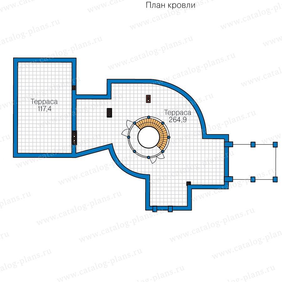 План 3-этажа проекта 40-89B