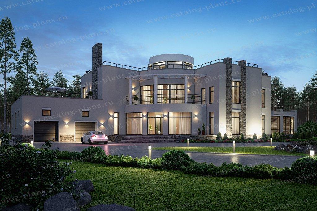 Проект жилой дом #40-89B материал - монолитный каркас, стиль хай тек