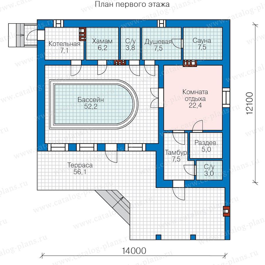 План 1-этажа проекта 90-54