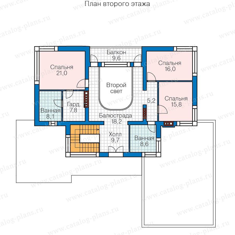 План 2-этажа проекта 40-95